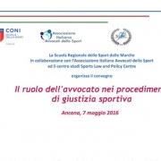 ancona 7 maggio giustizia sportiva