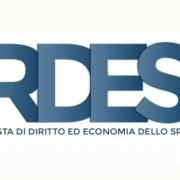 rdes rivista diritto economia sport